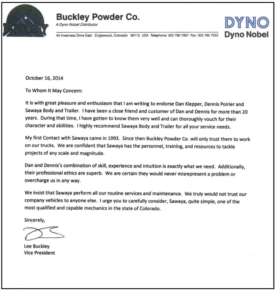 Buckley Powder Testimonial Letter - 4