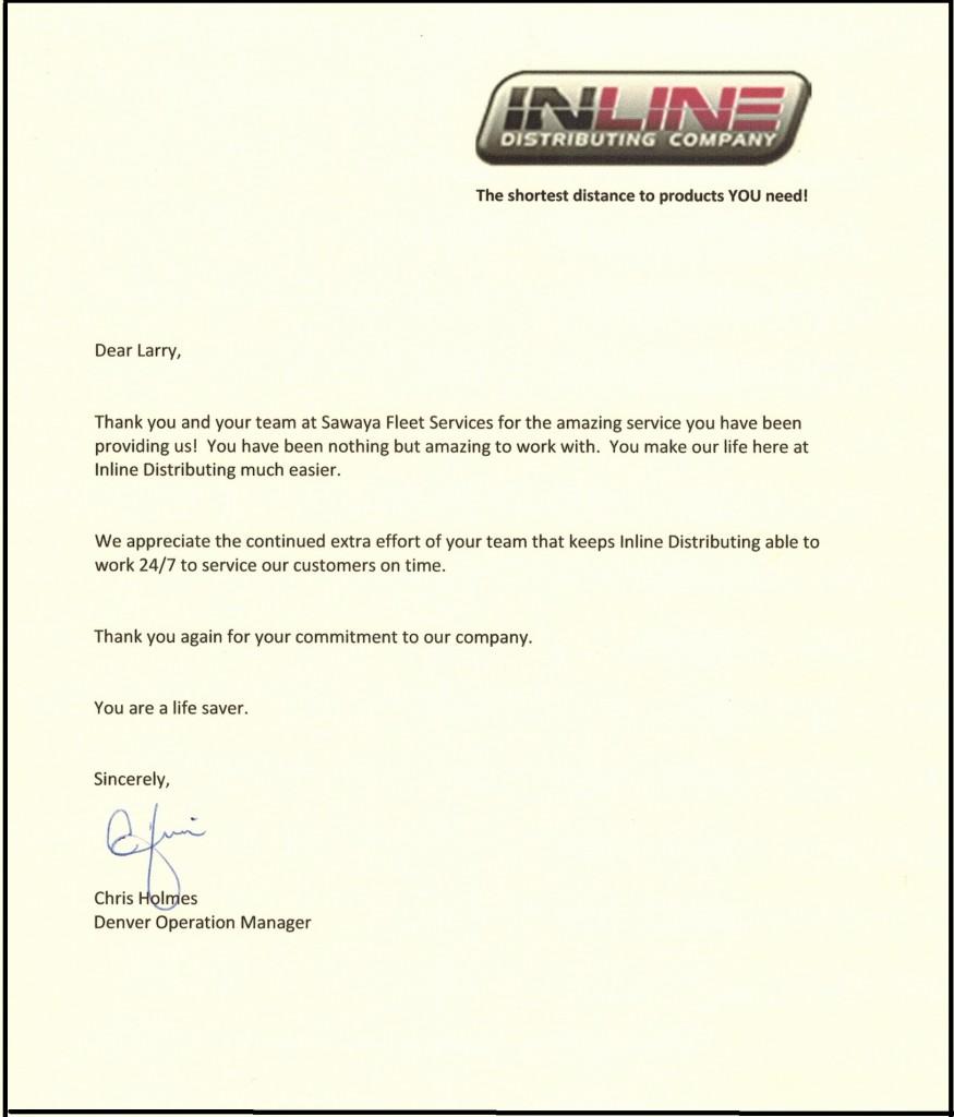Inline Testimonial Letter - 3